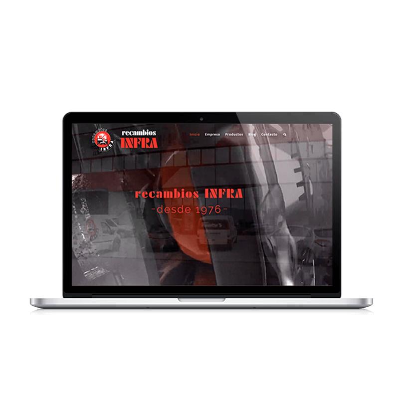 nueva web Recambios Infra SL en Lugo