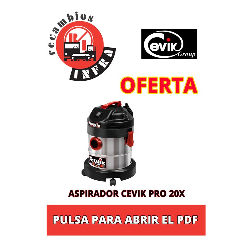 oferta-aspirador-cevik-pro20x-recambios-infra-lugo