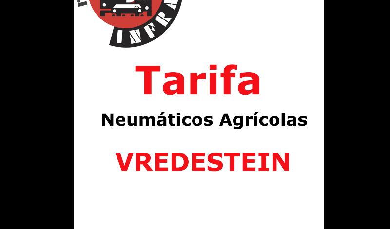 VREDESTEIN NEUMATICOS AGRICOLAS MAYO 2017