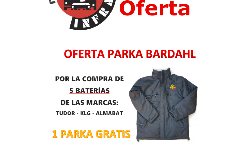recambios-infra-PARKA-BARDAHL-REGALO-CON-BATERIAS