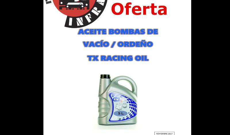 recambios-infra-TX-RACING-OIL ACEITE-BOMBAS-VACIO-ORDEÑO