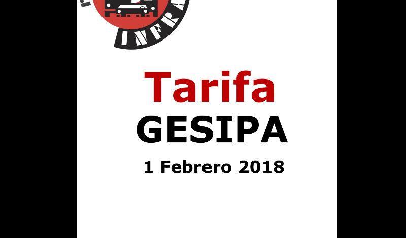 recambios-infra-GESIPA-Tarifa-2018