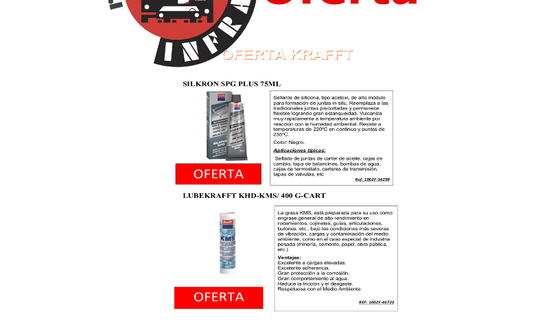 recambios-infra-KFRAFFT-SILKRON-LUBEKRAFFT