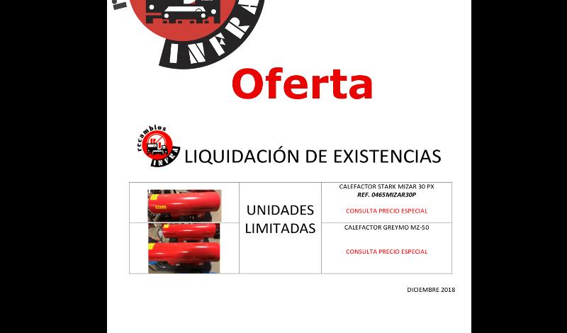 recambios-infra-CALEFACTOR-LIQUIDACION-DE-EXISTENCIAS