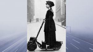 Pensaste que el patinete electrico era lo mas nuevo Pues no ya se usaba hace un siglo1920