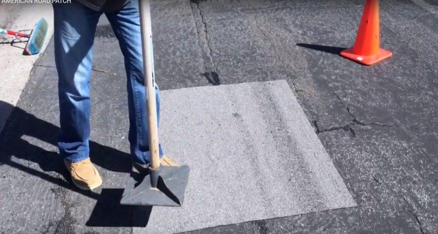 Parches adhesivos de asfalto contra las malas carreteras 1920