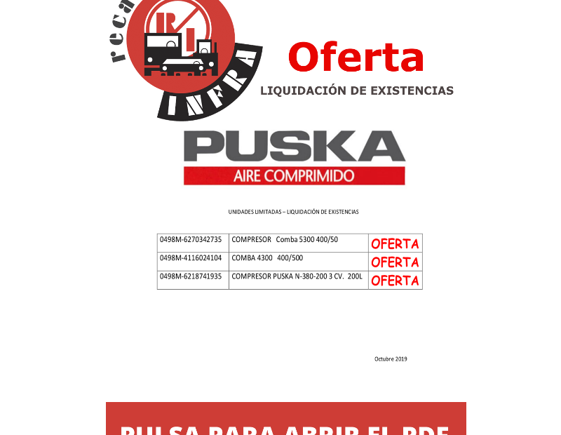 recambios-infra-PUSKA-COMPRESORES-LIQUIDACION