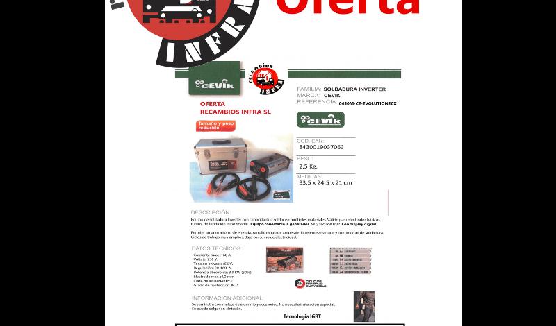 recambios-infra-CEVIK-SOLDADURA-CE-EVOLUTION20X-SP
