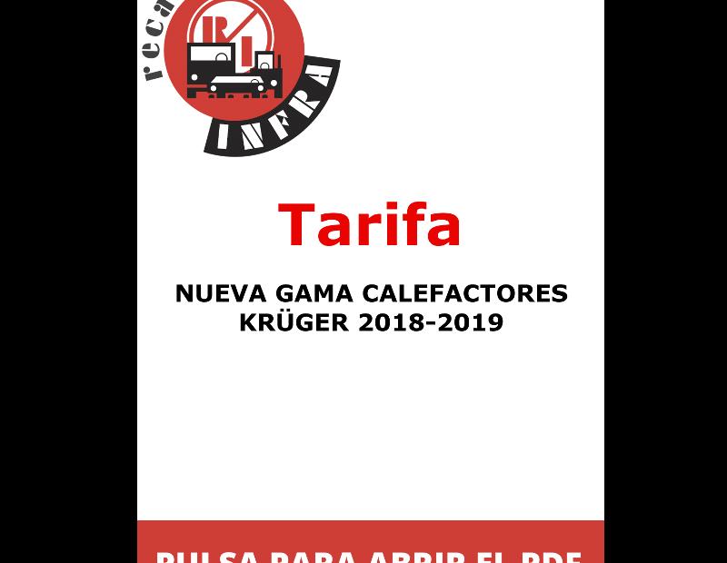 recambios-infra-NUEVA GAMA CALEFACTORES KRÜGER 2018-2019