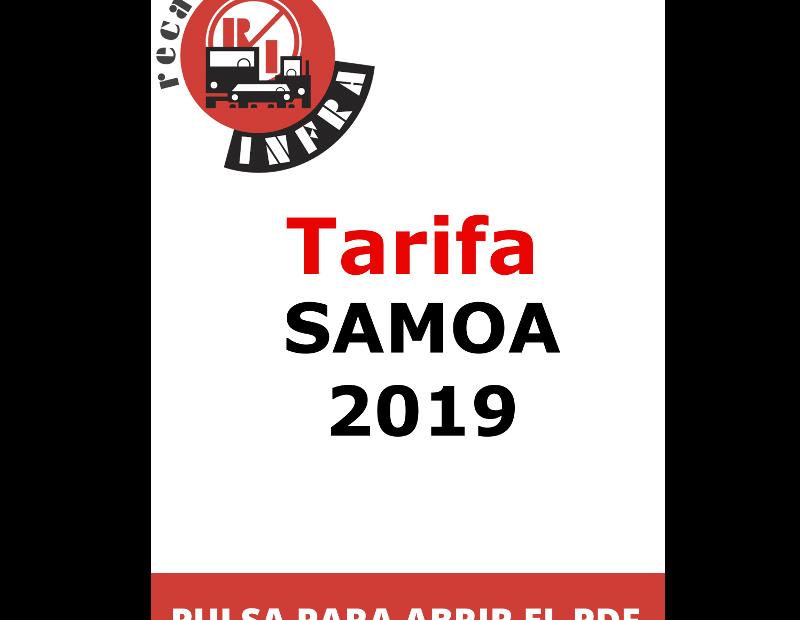 recambios-infra-SAMOA-TARIFA 2019