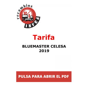 recambios-infra-Tarifa BLUEMASTER CELESA. 2019
