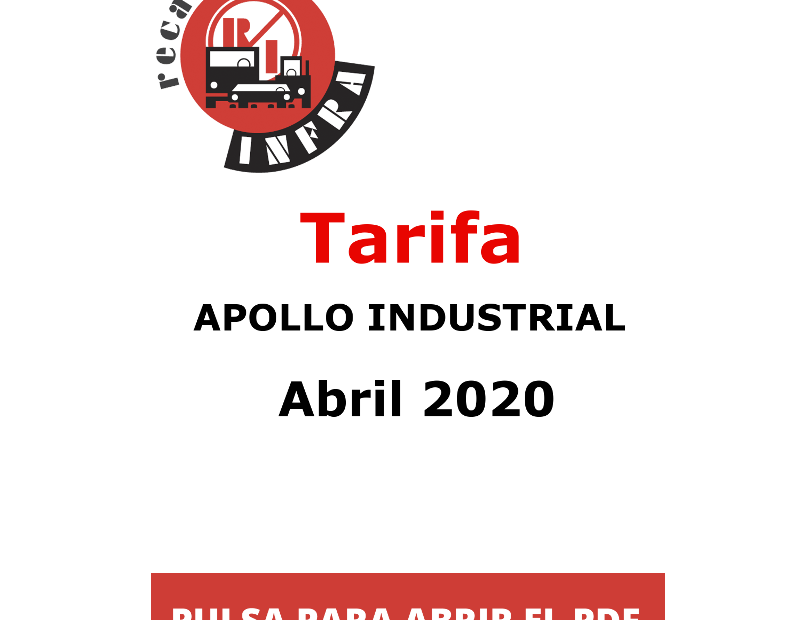 recambios-infra-APOLLO Industrial Abril 2020