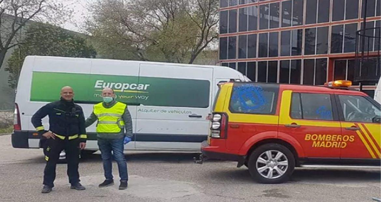Europcar cede gratis vehículos a sanitarios1920