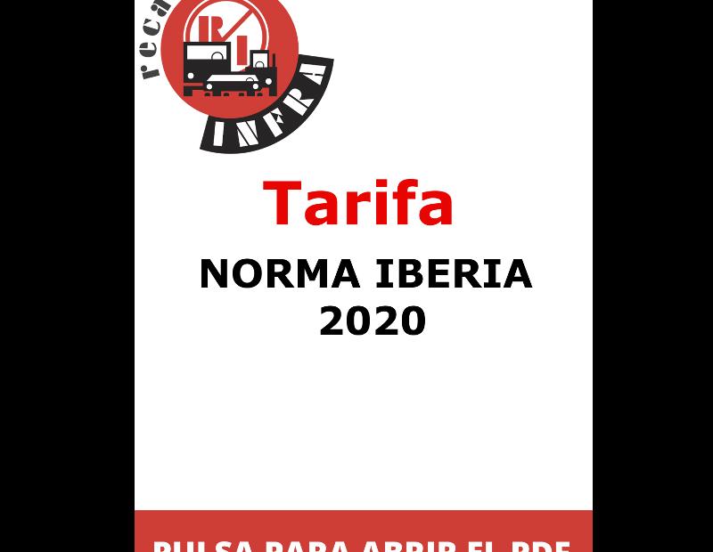 recambios-infra-TARIFA-NORMA-IBERIA-2020
