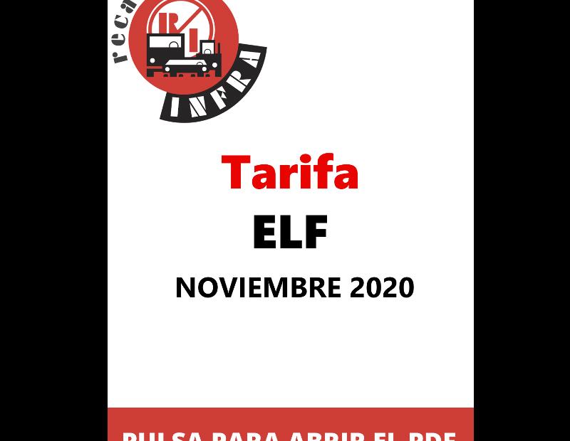 recambios-infra-Tarifa P.V.P. - ELF - NOVIEMBRE 2020