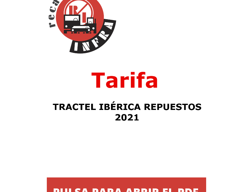 recambios_infra_TRACTEL_IBERICA_TARIFA_PVP_REPUESTOS_2021